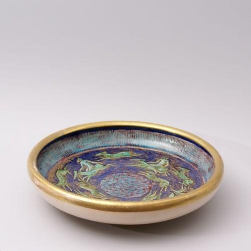 Jean Mayodon - Large Earthenware Bowl - Porcelain & Faience Style Art Déco