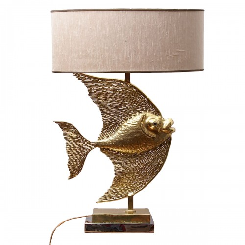 Grand lampe poisson par Jacques Duval Brasseur