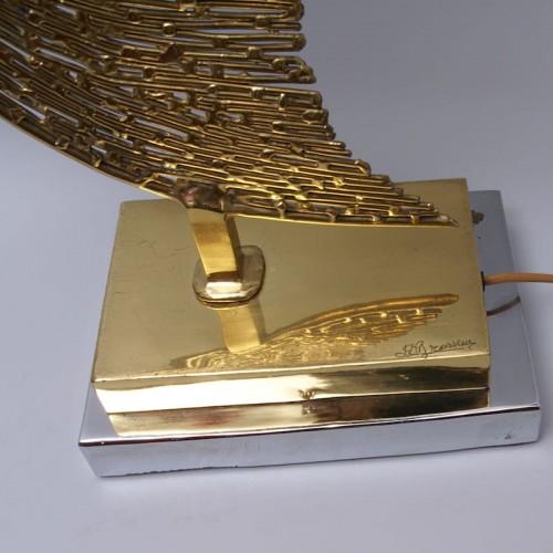 Unique Jacques Duval Brasseur Brass Fish Lamp - 50