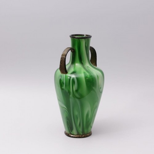 """""""Calcedonio"""" Glass Vase by Fratelli Toso Murano - Glass & Crystal Style Art Déco"""