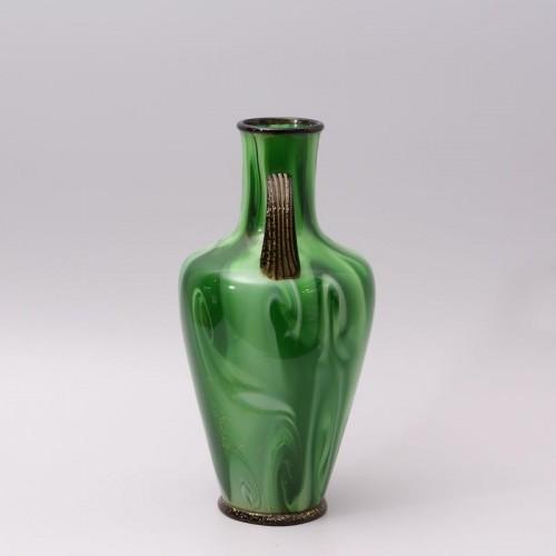 """Calcedonio"" Glass Vase by Fratelli Toso Murano -"