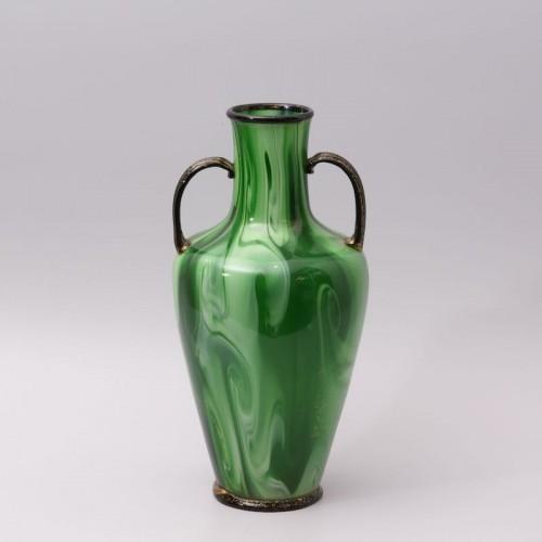 "20th century - ""Calcedonio"" Glass Vase by Fratelli Toso Murano"