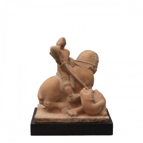 Saint Georges slaying the Dragon- Henri Pâquet (1898-1975)