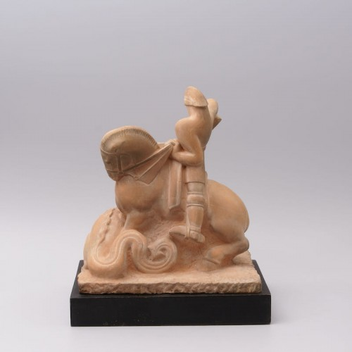 Sculpture  - Saint Georges slaying the Dragon- Henri Pâquet (1898-1975)