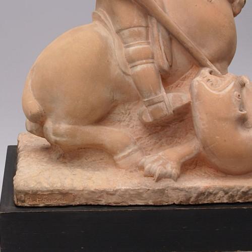 Saint Georges slaying the Dragon- Henri Pâquet (1898-1975) - Art Déco