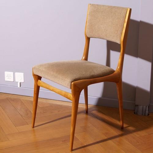 20th century - Carlo de Carli Six Chairs Set - Cassina Edition