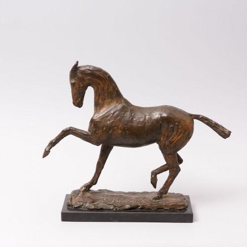 Bronze Horse - Eduard Bick (1883-1947) - Sculpture Style Art Déco
