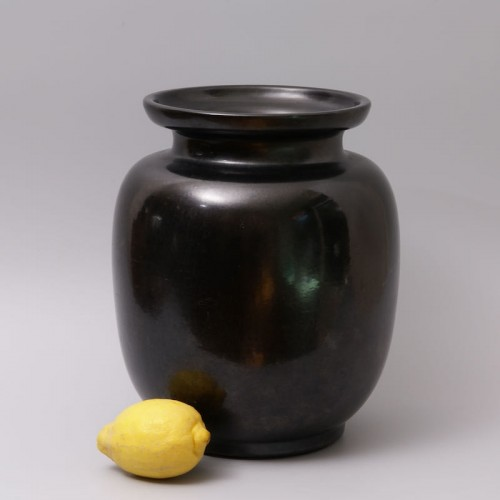 Large Earthenware Vase - Paul Bonifas (1893-1967) - Porcelain & Faience Style Art Déco