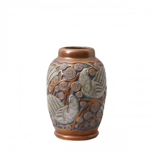 Art deco Sandstone Vase by Mougin Frères design Géo Condé