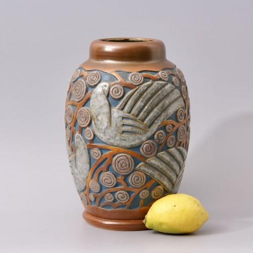 20th century - Art deco Sandstone Vase by Mougin Frères design Géo Condé