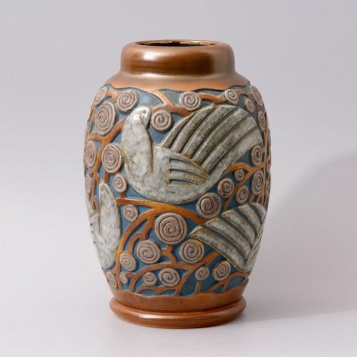 Art deco Sandstone Vase by Mougin Frères design Géo Condé - Art Déco