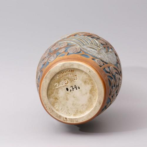 Art Déco - Art deco Sandstone Vase by Mougin Frères design Géo Condé