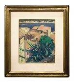 Provencal landscape painting circa 1920
