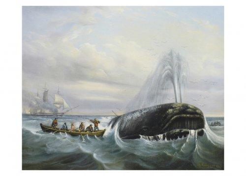 Scene of whaling - Alex TARDYF