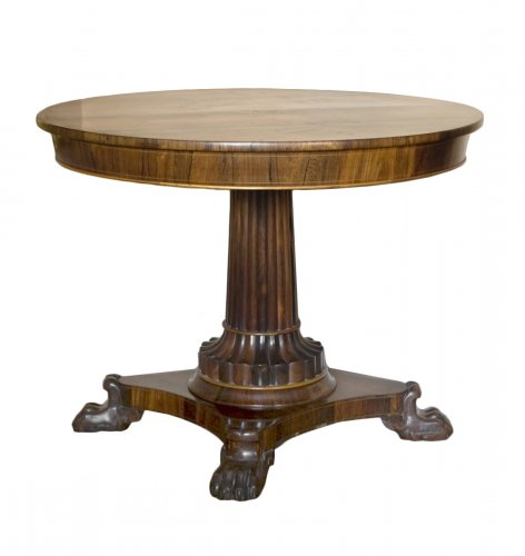 Masonic pedestal table in rosewood, Restoration period