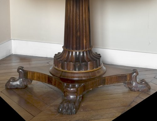 Masonic pedestal table in rosewood, Restoration period - Furniture Style Restauration - Charles X