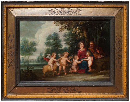 Rest of the Holy Family workshop Pieter van Avont early 17th