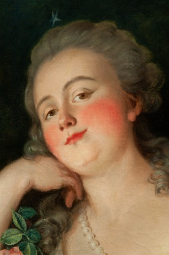 Presumed portrait of the Countess du Barry, France 18th century - Paintings & Drawings Style Louis XV