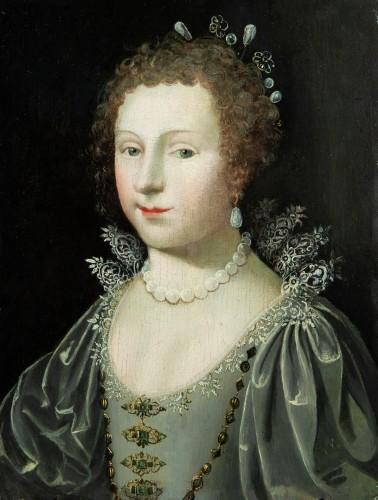 Portrait of a Princess - Workshop of Claude Deruet circa 1620 - Paintings & Drawings Style Louis XIII