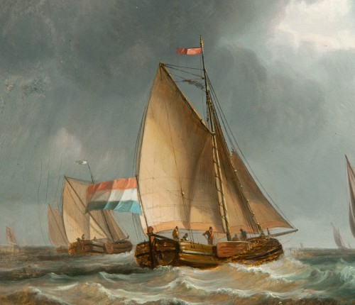 Paintings & Drawings  - Dutch ships off the coast - 17th century Dutch school