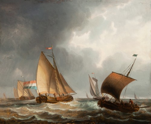 Dutch ships off the coast - 17th century Dutch school -