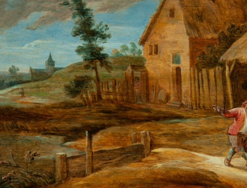 Paintings & Drawings  - In front of the inn - Flemish school of the 17th century, attributed to David Teniers the younger