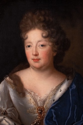 Portrait of a princess attributed to François de Troy - Paintings & Drawings Style Louis XIV