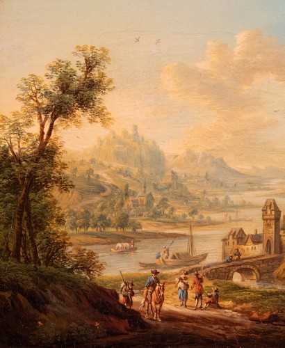 Paintings & Drawings  - Village in the Rhine Valley - Frans Hochecker (1730-1782)