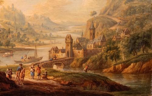 Village in the Rhine Valley - Frans Hochecker (1730-1782) -