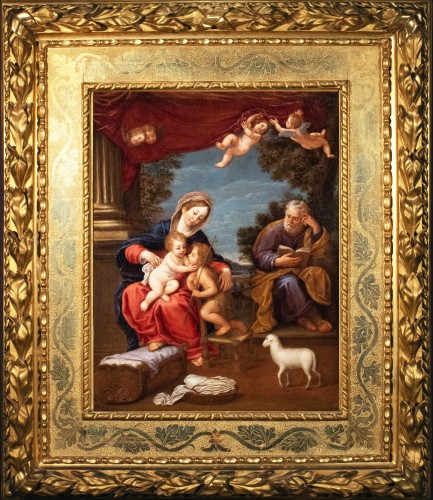 The Holy Family and Saint John the Baptist, 17th century Bolognese school