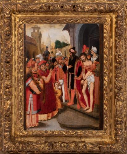 Christ leaving the Pretorium - Flemish school of the 16th century