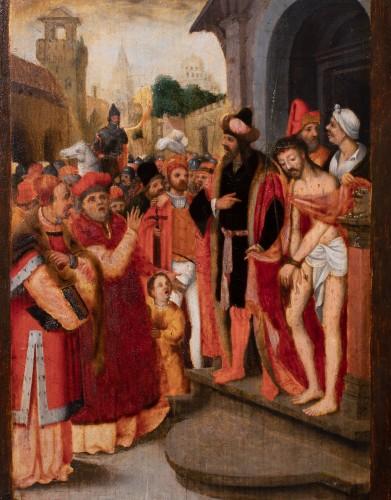 Christ leaving the Pretorium - Flemish school of the 16th century - Paintings & Drawings Style Renaissance