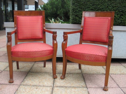 Pair of mahogany chairs Consulat period