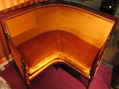 Seating  - Corner sofa Restauration period