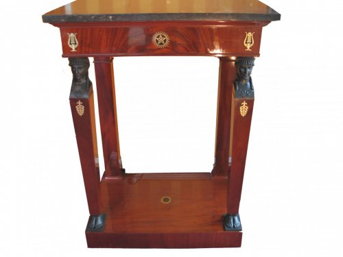 Small mahogany console table - early 19th century, Consulat period