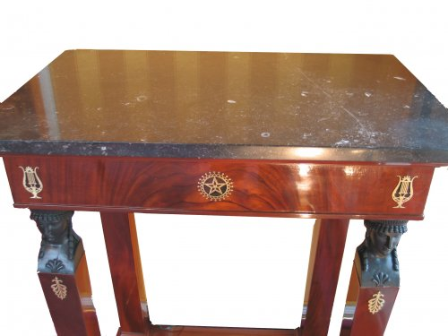 Small mahogany console table - early 19th century, Consulat period - Furniture Style Empire