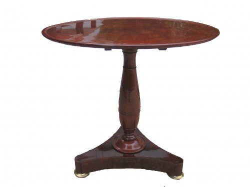 French gueridon table in mahgany of Empire period