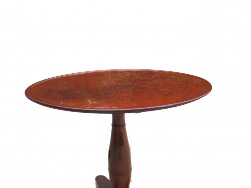 French gueridon table in mahgany of Empire period - Furniture Style Empire