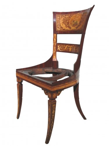 Furniture  - Chair and desk, Italy 18th century