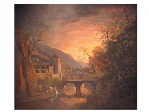 Gouache by Louis Gadbois ( 1770 - 1826 )