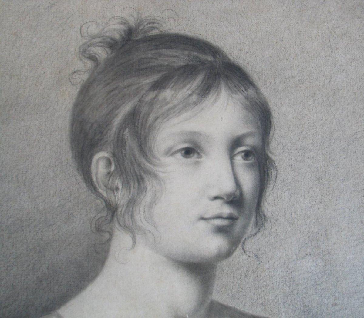 Portrait de jeune fille d but xixe si cle - Dessin de jeune fille ...