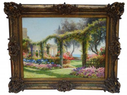 Eugène Deully (1860 - 1933) - The Flowered Arcs - Paintings & Drawings Style