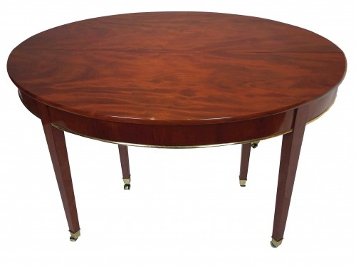 Oval mahogany dining table, Directoire / Consulate period - Furniture Style Directoire