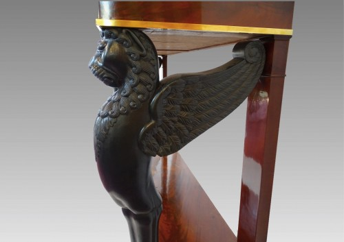 19th century - Large console, 1st Empire period