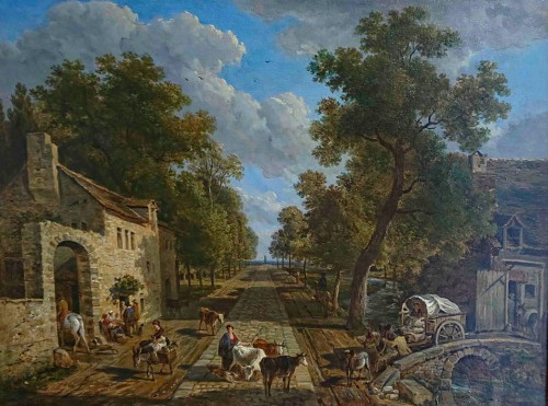 The road to Fontainebleau - Victor de Grailly 1804 - 1889) after Jean-Louis Demarne