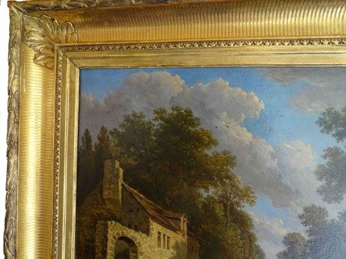 Paintings & Drawings  - The road to Fontainebleau - Victor de Grailly 1804 - 1889) after Jean-Louis Demarne