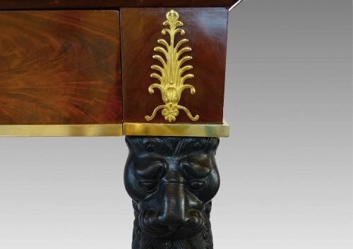 Mahogany console 1st Empire - Furniture Style Empire
