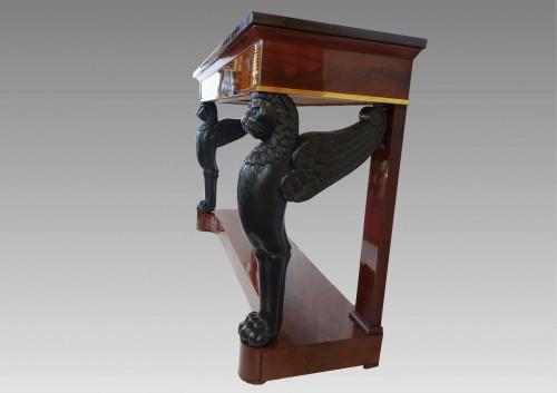 Furniture  - Mahogany console 1st Empire