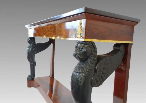 Mahogany console 1st Empire -