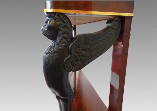 19th century - Mahogany console 1st Empire